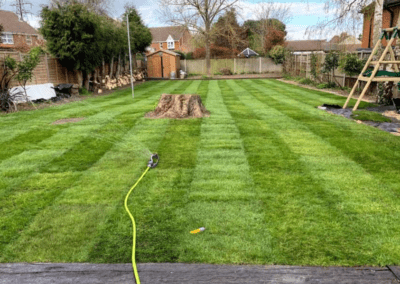 Large 270 square metre turfing project